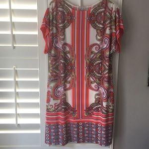 NWT Sheath paisley multicolored dress